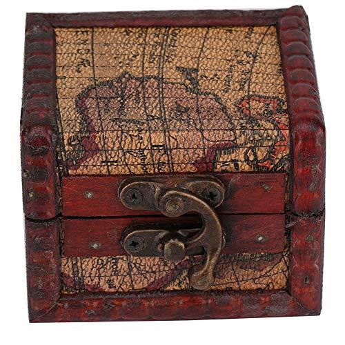 Vintage houten kist, plaats sieradenopbergdoos handgemaakt van hout, decoratieve vitrine sieradendoos handgemaakt