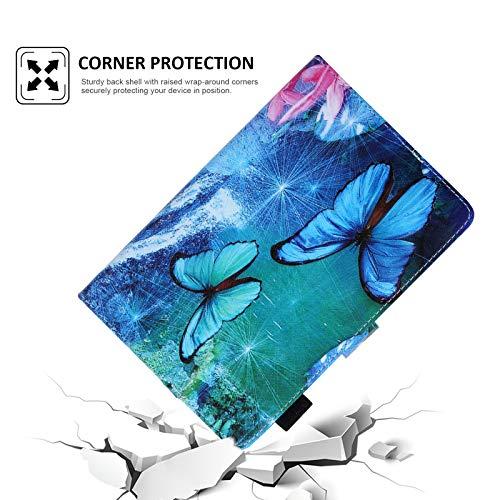 Dteck Universal-Schutzhülle, dünn, leicht, Leder, Brieftaschenformat, für HD 10/Samsung Galaxy Tab/Lenovo Tab/Onn/Android Tablet 9.6 9.7 10 10.1 10.2 10.3 10.4 10.5 Zoll (Wasserfall)