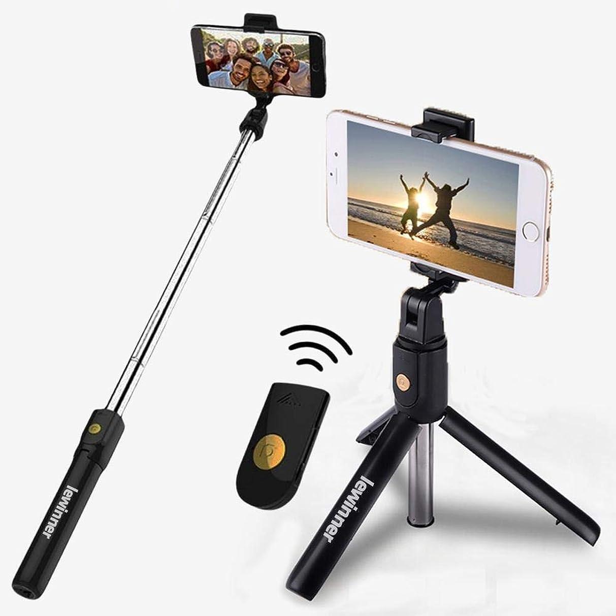 食事メダリスト脱臼するZhexun サムスン/Huawei社のために私の電話X 8 7 6Sの電話三脚3 1ワイヤレスBluetoothで自分撮りスティック、ミニ三脚一脚拡張可能なユニバーサル