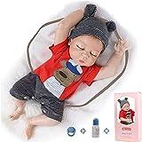 ZIYIUI Muñeca Reborn de 20 Pulgadas 50 cm Cuerpo Completo de Silicona muñecas Reborn Originales Juguetes para bebés Juguetes para bebés muñeca Reborn