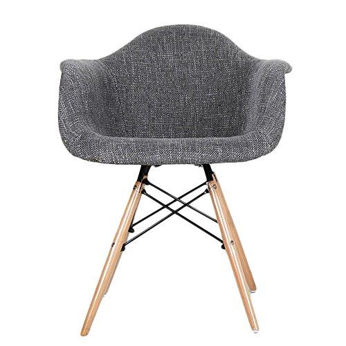 G-Y Canapé paresseux, Canapé simple nordique en bois massif, chaise de café, chaise longue de balcon (Couleur : Gris foncé)