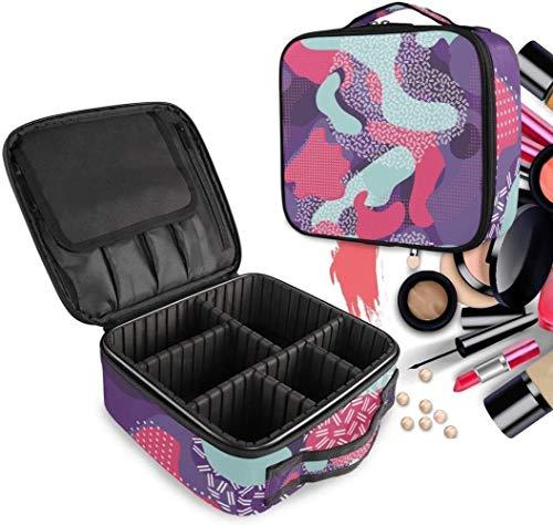 Cosmétique HZYDD Violet Rouge Bleu Make Up Bag Trousse de Toilette Zipper Sacs de Maquillage Organisateur Poche for Compartiment Femmes Filles Gratuit