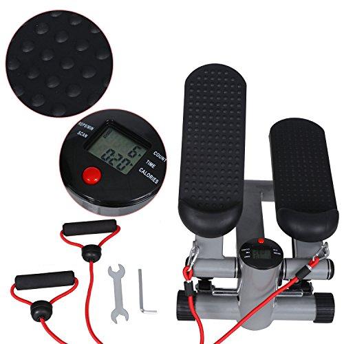 ZOKEO Swing Stepper Hometrainer Stepper mit kabellosem Trainingscomputer –Up-Down-Stepper für Einsteiger und Trainierte