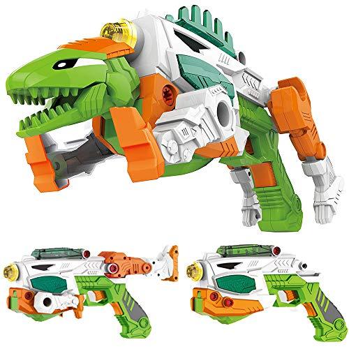 Liberty Imports 3-in-1 Dinoblaster Transforming Dinosaur Gun Engineering Take Apart Toy Tool Kit with Lights and Sound (Tyrannosaurus Rex)
