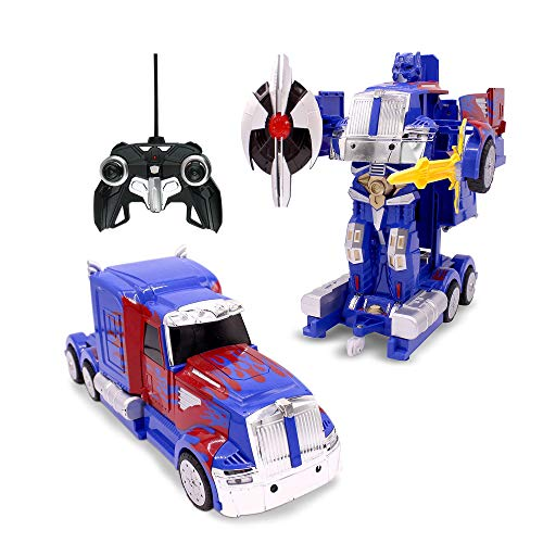 Family Smiles RC Toy Car Truck Transforming Robot Kids 8 - 12 years Remote Control Vehicle 1:14...