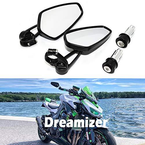 "DREAMIZER 7/8"" 22mm Specchietti Manubrio per Moto, Moto Specchi Retrovisori per Z1000 ER6N ER6F MT01 MT03 FZ6 GSF1250 GSF600 Monster M696"