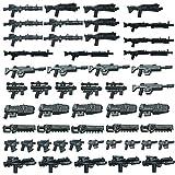 ALLESOK 50 Piezas Juguete Militar Kit Custom Armas para Minifiguras de Soldados de Policía, Compatible con Lego