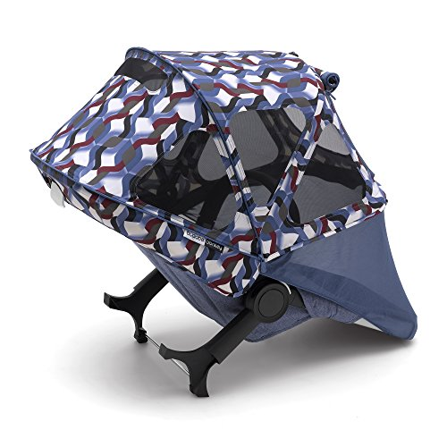 Bugaboo Donkey2 Breezy Sun Canopy, Waves - Extendable Sun Canopy with UPF Sun Protection and Mesh Ventilation Panels