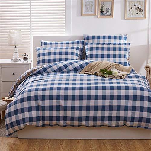 SXCYU Beddengoed Textiel Katoen Twill Print Drie- / vierdelig Dekbedovertrek Laken Kussenslopen Pak, 3.160x210cm (3 stuks)