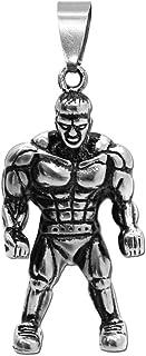 tumundo Ciondolo Pendente Peso Manubri Fitness Bodybuilding Guantoni da Boxe Chiave Catena Collane Acciaio Argento Oro