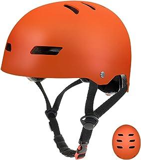 FerDIM Skateboard Helmet, Kids/Adult Adjustable Helmet CPSC Certified Impact Resistance Ventilation for Multisport Roller Skating Skateboarding Cycling Scooter Longboarding Rollerblading Longboard
