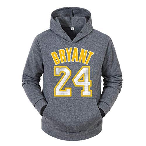 Kobe Bryant - Sudadera con capucha para hombre, diseño de baloncesto americano número 24 atlético espacial, de algodón, suéter de Los Ángeles Lakers ropa deportiva