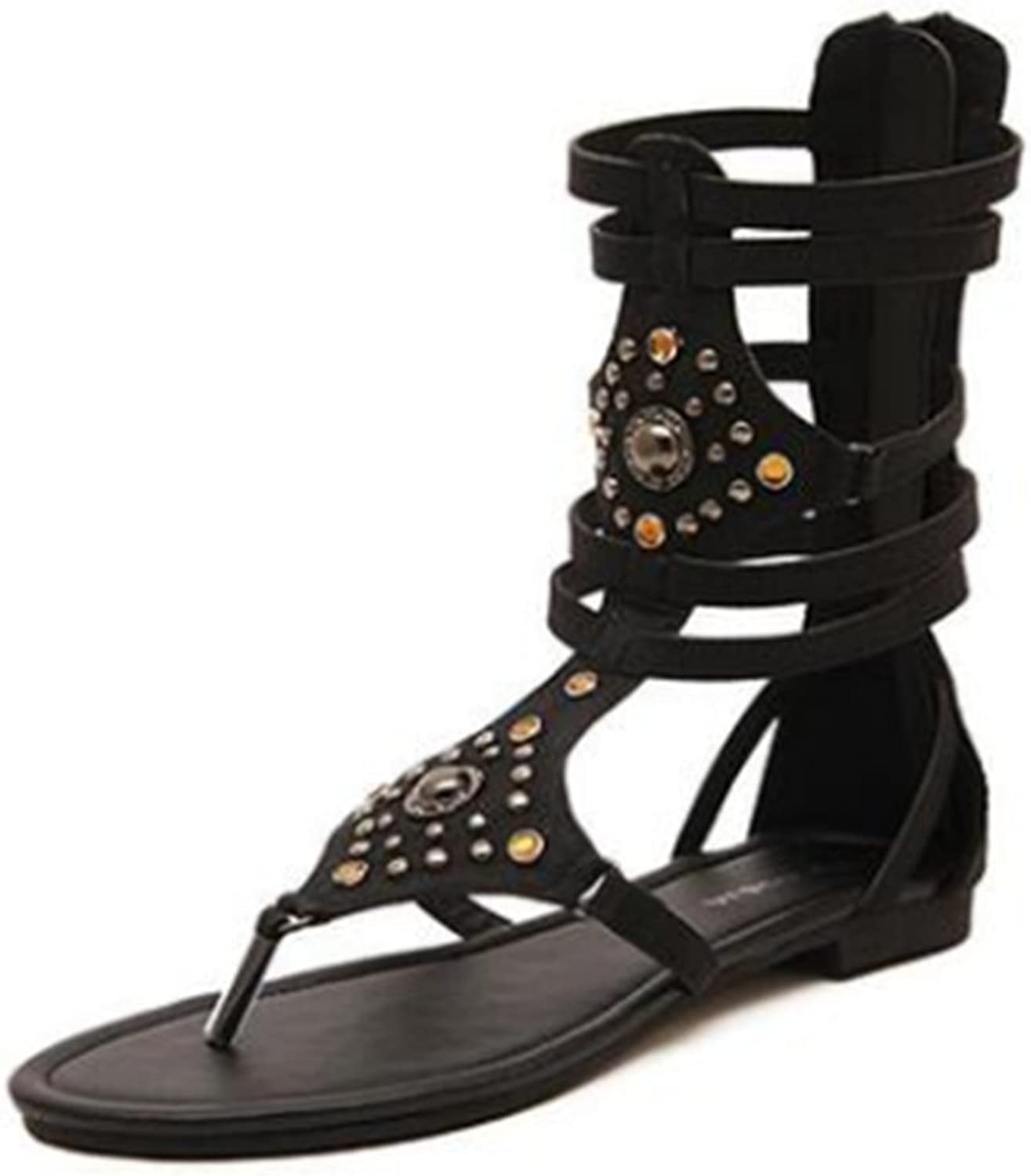 Edv0d2v266 High Heels Gladiator Spiked Sandals Boots Strapless Party shoes Women Peep Toe Pumps Women shoes