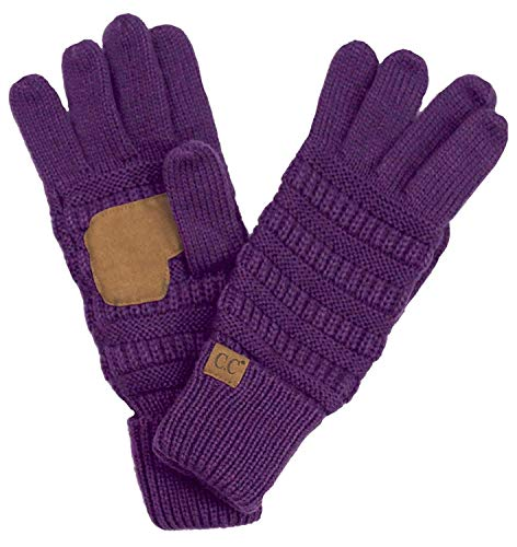 G2-6020a-74 Knitted Lined Gloves - Dark Purple