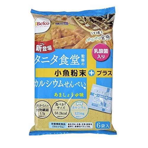 栗山米菓 タニタ食堂監修のカルシウムせんべい あましょうゆ味 96g(16g×6袋)×12袋