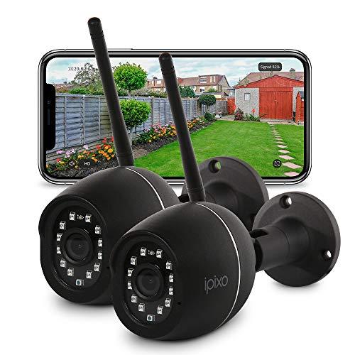 iPixo Upgraded WiFi Outdoor Home Security Camera, 1080p External Waterproof...