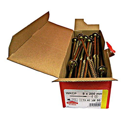 Tellerkopfschrauben Holzbauschrauben alle Größen Tellerkopf Torx Schrauben (50Stück 8x200mm TX40)
