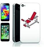 Smartphone Case Apple IPhone 5C 'BANK- ROT- FITNESSRAUM- ÜBUNG- AUSRÜSTUNG- GEWICHT- FITNESS-...