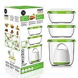 FOSA Home Starter Kit Madrid. Envasadora al vacío compacta + 3 recipientes redondos (1x1.350 ml, 2x600 ml) para conservar tus alimentos