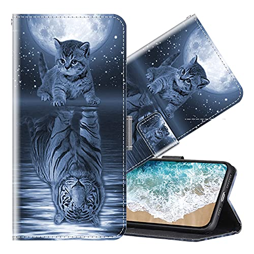 Cherfucome Handyhülle für Sony Xperia XA1 Plus Hülle Handytasche Leder Hülle Sony Xperia XA1 Plus Schutzhülle Brieftasche Ledertasche,Flip Hülle Wallet Lederhülle Tasche [B03]