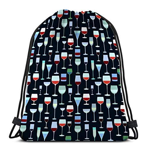 Mochila de Cuerdas Bolsa de Cuerda plato llevar copas de vino restaurante bar menú colores brillantes 36X43CM