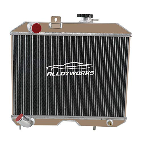ALLOYWORKS 3 Row All Aluminum Radiator For 1941-1952 Jeep Willys MB/CJ-2A/M38&Ford GPW