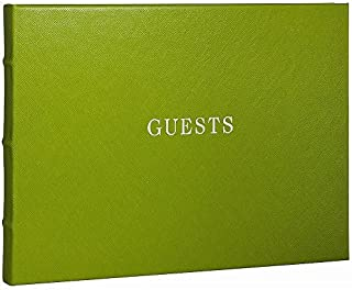 Bound Eco-leather LIME Guest Book for a lasting record by Graphic Image -