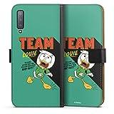 DeinDesign Étui Compatible avec Samsung Galaxy A7 (2018) Étui Folio Étui magnétique Duck Tales...