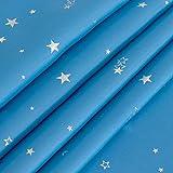 BGment Vorhänge Blickdicht Sterne mit Ösen Gardine Thermo isoliert für Baby, Kinderzimmer,Blau Verdunkelungsvorhänge 1 Paar (2X H 228 X B 117cm,Blau) - 9