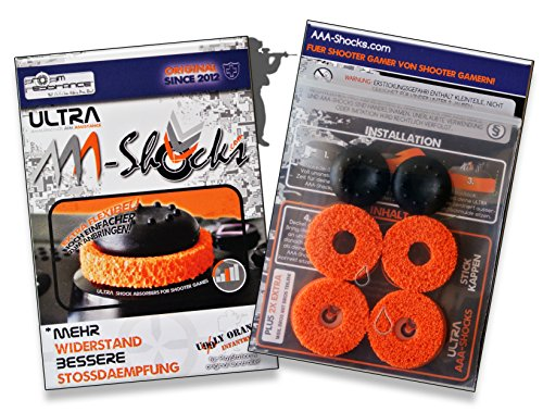 AAA-Shocks (Original Analogstick Aim Assistance Stossdämpfer Zielhilfe für Shooter Games): ULTRA Uggly Orange Infantry für PlayStation 4