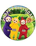 7.5 Inch Edible Cake Toppers – Teletubbies Themed Birthday Party Collection of Edible Cake Decorations