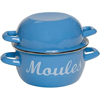 /½ Gallon 2.5 Litres Kitchencraft World Of Flavours Enamel Mussel Pot - Yellow Kitchen craft WFMUSSYEL