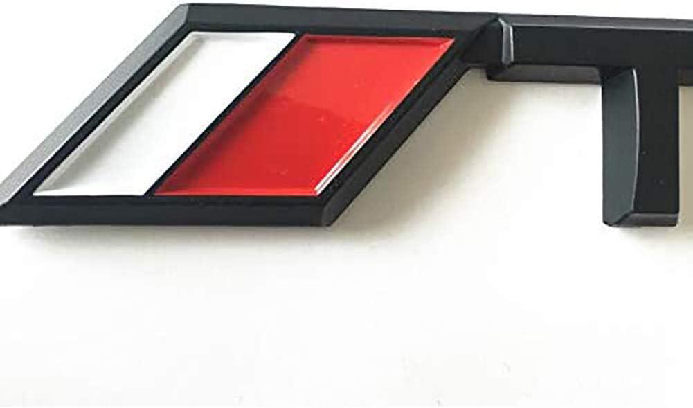 HELMT 2 pi/èces 3D TRD Logo embl/ème Voiture c/ôt/é Garde-Boue arri/ère Coffre embl/ème Badge en Alliage de Zinc Style d/écalcomanie Autocollant pour Honda,Argent,95mm x 18mm