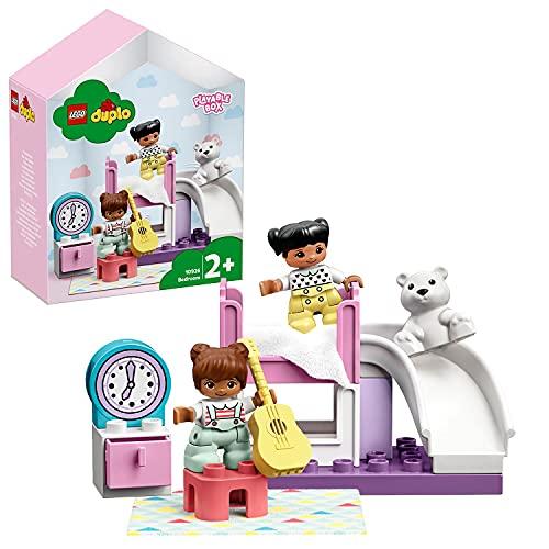 LEGO10926DuploTownDormitorioJuguetedeConstrucciónparaNiñosyNiñas+2añoscon2MiniFiguras,unaGuitarrayunOso