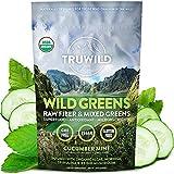TRUWILD WILD GREENS Certified Organic Green Superfood Adaptogen Powder - 22+ Amazing Organic Foods - Reishi, Ashwagandha, Maca, Moringa, Wheatgrass, Bitter Melon - with Immune Support & Natural Flavor