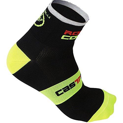 Castelli - Socks Rosso Corsa 6cm, color amarillo,negro, talla EU 35-39