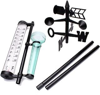 ZSTVIVA Outdoor Air Temperature Meter Thermometer Rain Gauge Wind Direction Meter Weather Meteorological Measurer Vane Tools