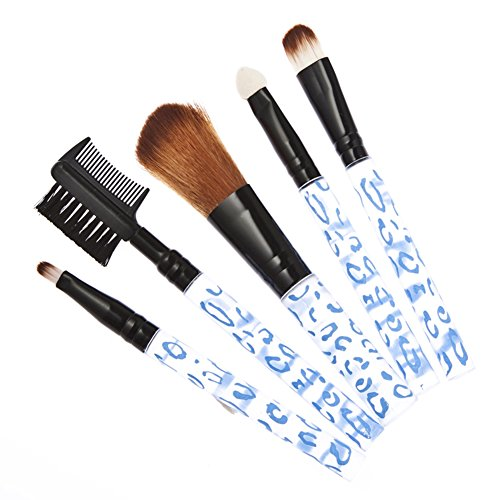 Domybest 5 pcs Nouveau Maquillage Professionnel Brosse Cosmétique Lot de pinceaux de Leopard Outil