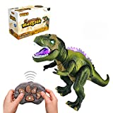 Tuko Remote Conctrol Jurassic World Dinosaur Toys LED Light Up Walking and Roaring Realistic t rex...