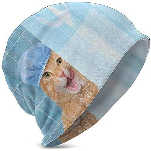 GodYo kat onder de douche babymuts kinderen Coole gebreide muts voor 3-15 jaar