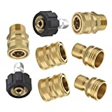 Mingle Ultimate Pressure Washer Adapter Set, Quick Disconnect Kit, M22 Swivel to 3/8 Inch Quick Connect, 3/4...