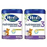 Hero Baby Leche Premium 3 -Para niños a partir de 12 meses - Pack de 2 x 800 gr