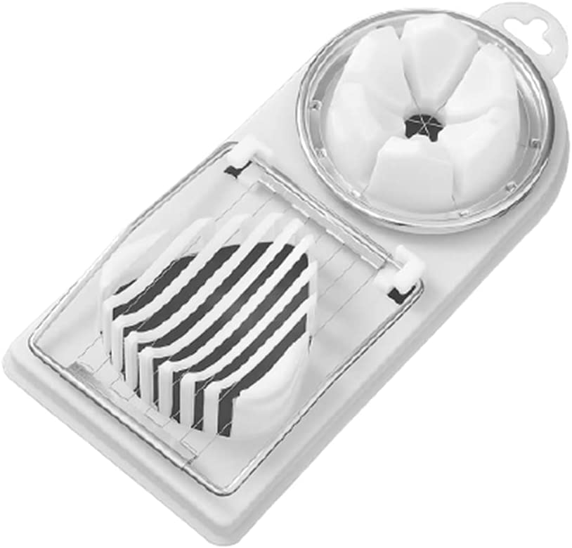 Hard Boiled Manufacturer regenerated OFFicial store product Eggs Slicer Cutter Multi-purpose 2-in-1 Wedger Dicer