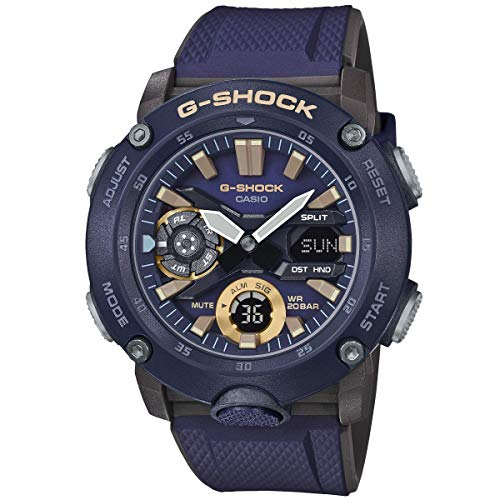 CASIO Herren Analog – Digital Quarz Uhr mit Resin Armband GA-2000-2AER