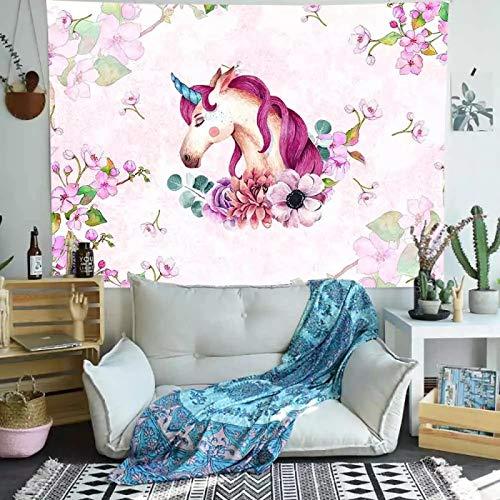 Tapiz de elefante pared de ladrillo blanco zoológico tigre arte tapiz colgante de pared para sala de estar 150X200CM