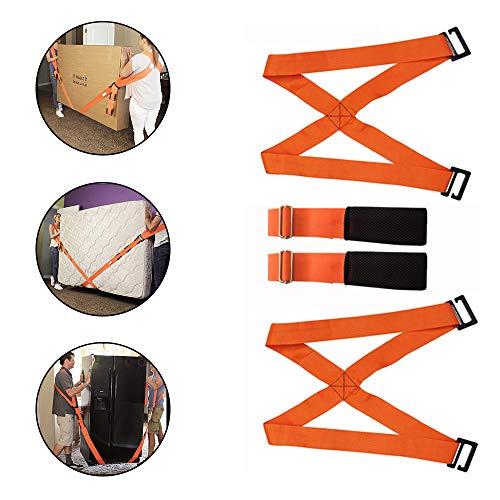 YBS Spalla di Sollevamento Cintura, spostare mobili Cintura, Frigorifero Portare Cintura, Divano, Materasso, Portare 800 libbre (4 Colori Disponibili),Rosso