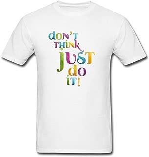Wanenkser Don't Think So Much Just Do It Design T Shirt For Men