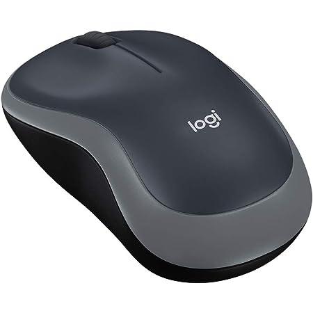 ロジクール ワイヤレスマウス 無線 マウス M185SG 小型 電池寿命最大12ケ月 M185 スイフトグレー 国内正規品 3年間無償保証
