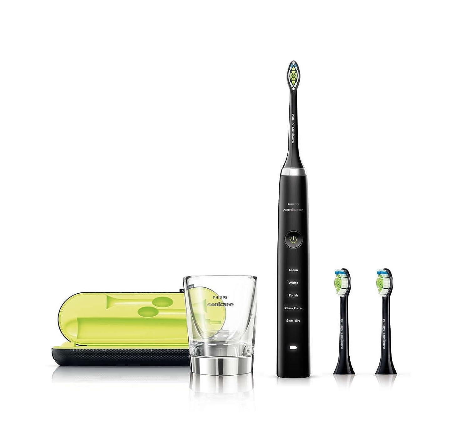 汚れた逆説サイズPHILIPS(フィリップス) 電動歯ブラシ ソニッケアー ダイヤモンドクリーン ブラック HX9313/54