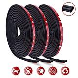 CICMOD Car Weather Stripping 49.2Ft Universal Self Adhesive Auto Rubber Draft Seal Strip for Window Door Engine Cover Trunk B Shape Black